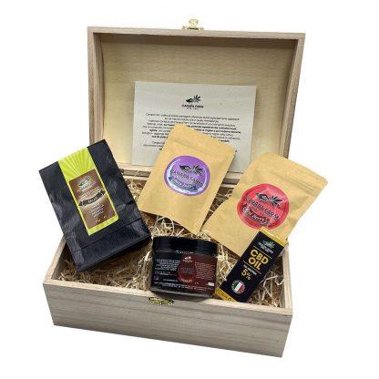 gift box hempy tisane infiorescenze cannabis
